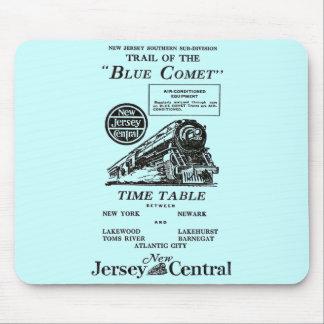 ニュージャージーの中央青い彗星の列車 マウスパッド