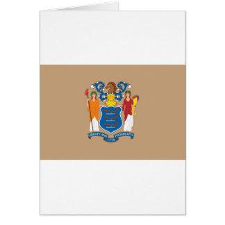 ニュージャージーの公式の州の旗 カード