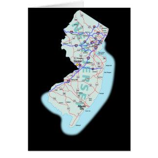 ニュージャージーの地図カード カード