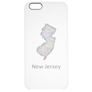 ニュージャージーの地図 クリア iPhone 6 PLUSケース