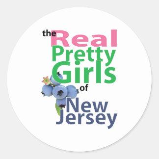 ニュージャージーの実質のかわいらしい女の子 ラウンドシール