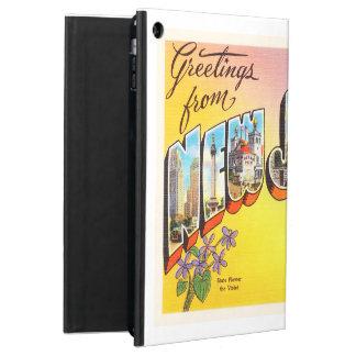 ニュージャージーの州NJの古いヴィンテージ旅行郵便はがき iPad AIRケース