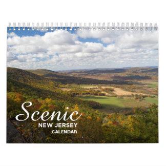 ニュージャージーの景色のカレンダー カレンダー