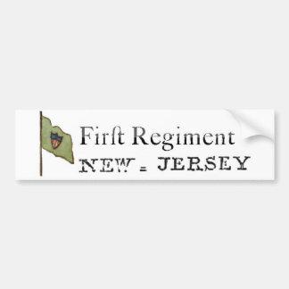 ニュージャージーの最初連隊、大陸ライン バンパーステッカー