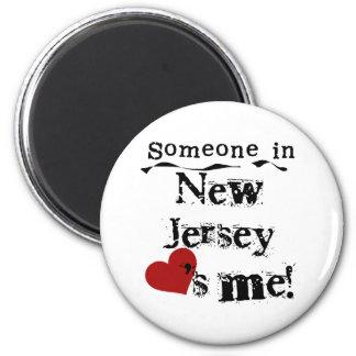 ニュージャージーの誰かは私を愛します マグネット