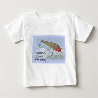 ニュージャージーの魚釣りの魅惑からの挨拶 ベビーTシャツ