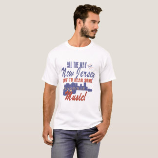 ニュージャージーのTシャツからのナッシュビル音楽を聞いて下さい Tシャツ