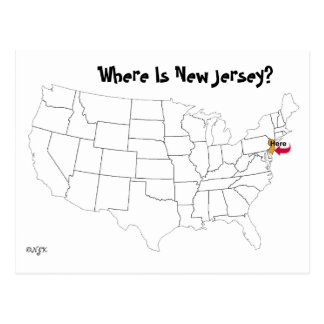 ニュージャージーはどこにありますか。 ポストカード