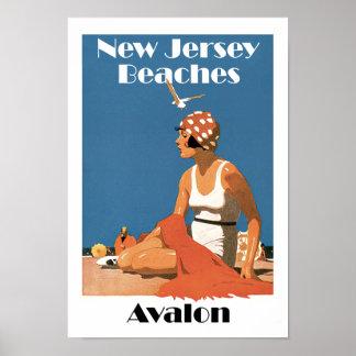 ニュージャージーは~ Avalonを浜に引き上げます ポスター