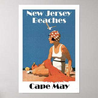 ニュージャージーは~ Cape Mayを浜に引き上げます ポスター