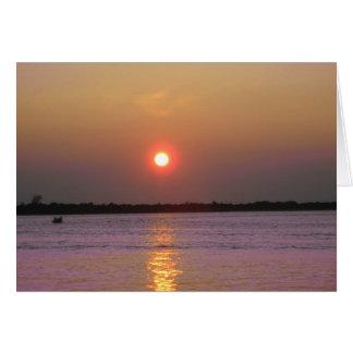 ニュージャージー上の日没 カード