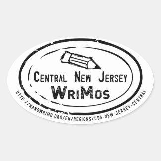 ニュージャージー中央WriMoのステッカー 楕円形シール