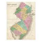 ニュージャージー(1827年)のヴィンテージの地図 ポストカード