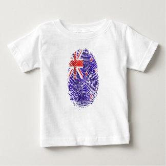 ニュージーランドすべての白の2014年のキーウィ ベビーTシャツ