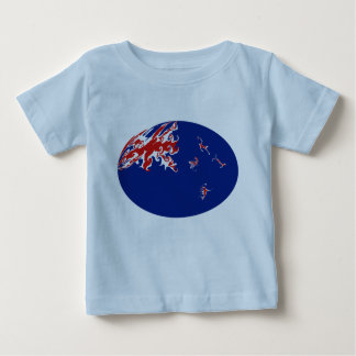 ニュージーランドのすごい旗のTシャツ ベビーTシャツ