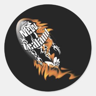 ニュージーランドのキーウィのラグビーサポータファンのステッカー ラウンドシール