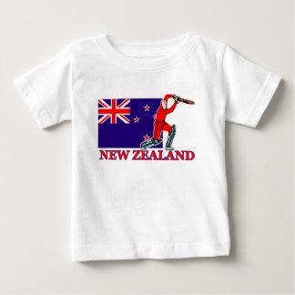 ニュージーランドのコオロギプレーヤー ベビーTシャツ