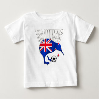 ニュージーランドのサッカーのTシャツ ベビーTシャツ