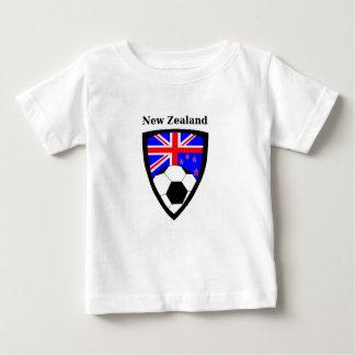 ニュージーランドのサッカー ベビーTシャツ
