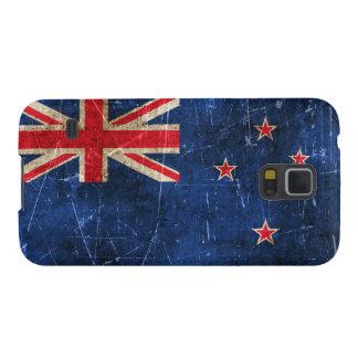 ニュージーランドのヴィンテージの老化させ、傷付けられた旗 GALAXY S5 ケース