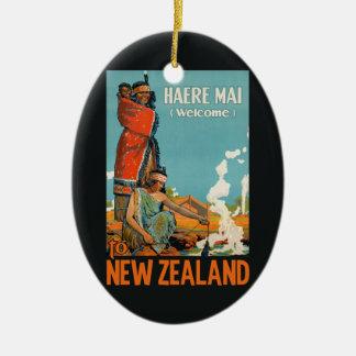 ニュージーランドのヴィンテージ旅行オーナメント セラミックオーナメント
