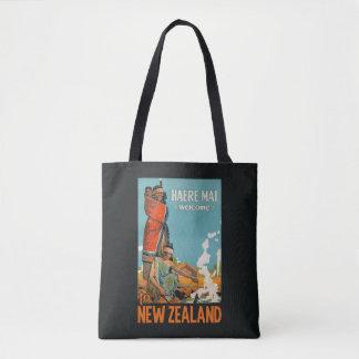 ニュージーランドのヴィンテージ旅行バッグ トートバッグ