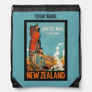 ニュージーランドのヴィンテージ旅行バッグ ナップサック