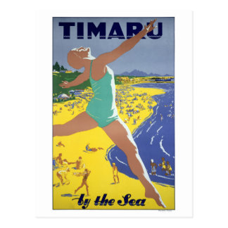 ニュージーランドのヴィンテージ旅行ポスター ポストカード