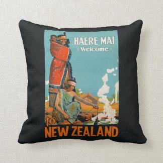 ニュージーランドのヴィンテージ旅行装飾用クッション クッション