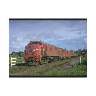 ニュージーランドの世界のタクシーのdiesel_Trains キャンバスプリント