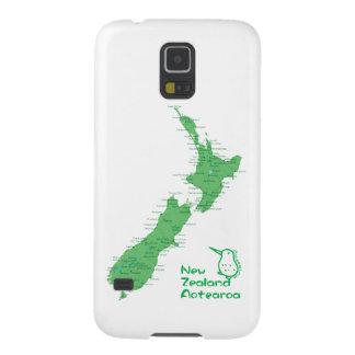 ニュージーランドの地図 GALAXY S5 ケース
