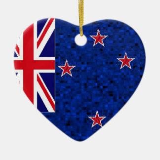 ニュージーランドの旗のグリッターのオーナメント セラミックオーナメント