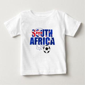 ニュージーランドの旗の南アフリカ共和国のサッカーのギフト ベビーTシャツ