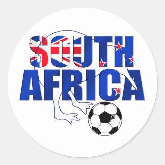 ニュージーランドの旗の南アフリカ共和国のサッカーのギフト ラウンドシール