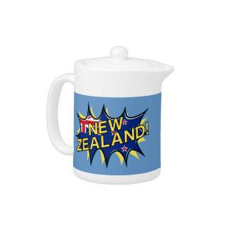 ニュージーランドの旗の喜劇的なスタイルのkapowの星