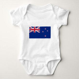 ニュージーランドの旗 ベビーボディスーツ