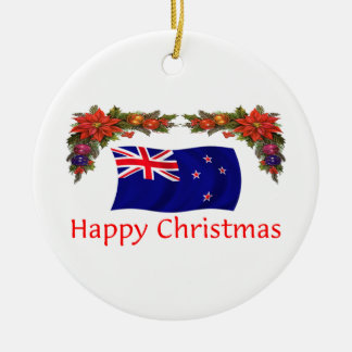 ニュージーランドの楽しいクリスマス セラミックオーナメント