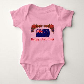 ニュージーランドの楽しいクリスマス ベビーボディスーツ