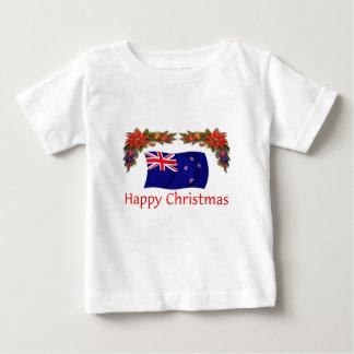ニュージーランドの楽しいクリスマス ベビーTシャツ