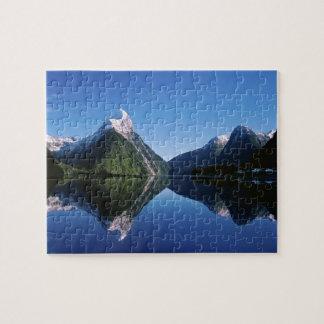 ニュージーランドの留め釘ピーク、Milford Sound、 ジグソーパズル