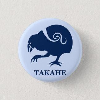 ニュージーランドの鳥TAKAHE 3.2CM 丸型バッジ