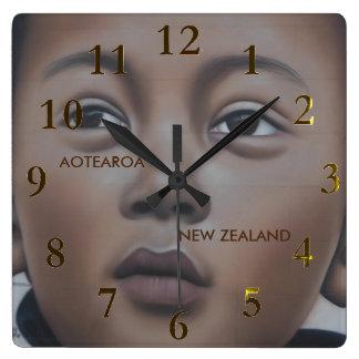 ニュージーランドのaotearoa スクエア壁時計