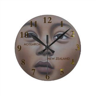 ニュージーランドのaotearoa ラウンド壁時計