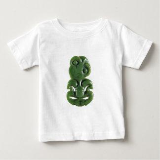 ニュージーランドマオリのHei Tikiのデザイン ベビーTシャツ