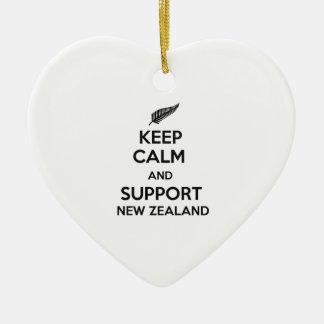 ニュージーランド穏やか、サポート保って下さい セラミックオーナメント