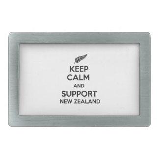 ニュージーランド穏やか、サポート保って下さい 長方形ベルトバックル
