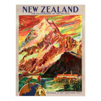 ニュージーランドMt.の調理師のヴィンテージ旅行ポスター ポストカード