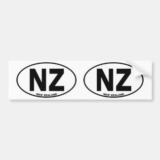 ニュージーランドNZ楕円形IDの識別コード[符号]のイニシャル バンパーステッカー