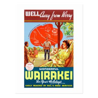 ニュージーランドWairakeiのヴィンテージ旅行ポスター ポストカード