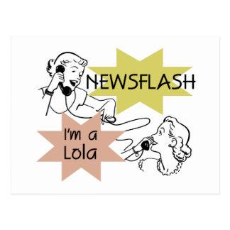 ニュース速報私はLolaのTシャツおよびギフトです ポストカード